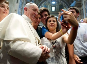 A selfie with the Pope